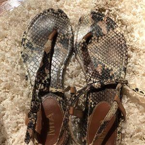 Like New Snakeskin Sandals
